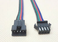 2x JST-SM 4-Pin (4P) Connector Pairs (4M & 4F)  WS2801 LPD8806 Addressable Ld