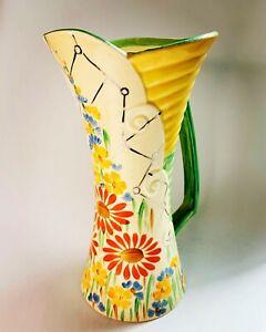"Wadeheath ""Flaxman Ware"" Art Deco Large Jug Vase. 22.5cm tall x 15cm widest"