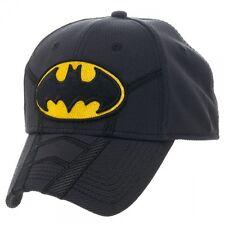 NEW Official BATMAN SUIT-UP Hat Super Hero Era Men Flex Fit Fitted Cap DC Comics
