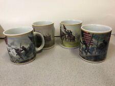 Mort Kunstler Civil War Legends in Gray Coffee Mug Set of Four