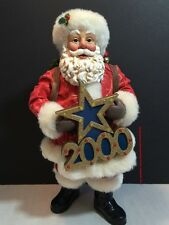 Possible Dreams 2000 Clothtique Santa Claus Lights And Music Figurine Collectibl