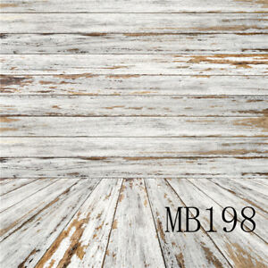 Vintage Wood Room Peeling Paint Floor Vinyl Studio Backdrop Background 5x7FT LB