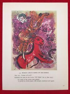 Marc Chagall,Woman Circus Rider Offs.Lithograph,1960 Mourlot Paris, Vintage