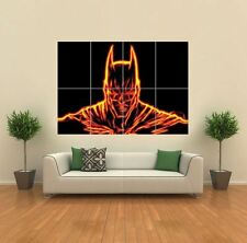 FRACTAL LIGHT BATMAN ORANGE NEW GIANT ART PRINT POSTER PICTURE WALL G1166