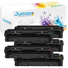 Lot de 5 Toners cartouches type Jumao Noir, Cyan, Jaune, Magenta pour HP 203X