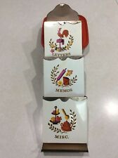 Vtg Retro Colorful Chicken Rooster Metal Tin Letter Mail Holder Wall Mount Kitch