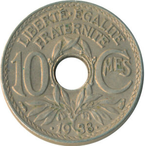 COIN / FRANCE / 10 CENTIMES 1938   #WT4885