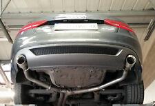 """Audi A5 3.0 TDi Coupe/Cabrio Rear silencer delete pipes - 4"""" slash cut tips"""