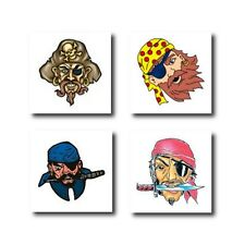 20 x Pirate Themed Temporary Tattoos - Great Kids Party Bag Fillers / Favours