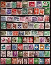 ALLEMAGNE 78 timbres oblitérés ,personnages et sujets divers faciale en DM 169T5