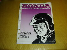 HONDA NB50 AERO 50 GENUINE SERVICE MANUAL