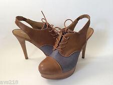 New inBox Nine West Pumps Women Shoes Heels Tan Gray 7.5M 7.5 Gimmebacko