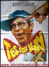 T'ES FOU JERRY! Affiche Cinéma MOVIE Poster JERRY LEWIS 53x40