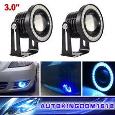 "3.0"" COB LED Ice Blue Angel Eye Automobile DRL Daytime Running Lights Fog Lamps"