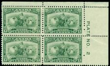 CANADA #194, 13¢ green, Plate No. Block of 4, og, 2NH/2H, Unitrade $120.00+