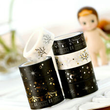 NEW Gold Foil Printing For Christmas Set Japanese Washi Paper Tape 15mmX5m BD