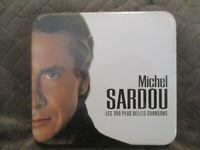 """COFFRET METAL 5 CD NEUF """"MICHEL SARDOU : LES 100 PLUS BELLES CHANSONS"""" best of"""