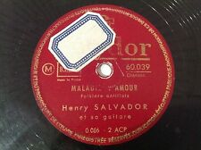 78 RPM - HENRY SALVADOR - Maladie d'amour - POLYDOR 560.039