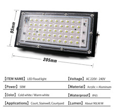 LED Flood Light 50W 220V 240V Floodlight streetIP65 Waterproof Outdoor Wall COOL