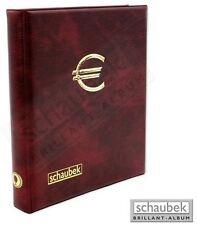 Schaubek 2-Euro-Münzenalbum mit 5 Hüllen für 100 Münzen in weinrot