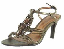 Damas Zapatos de noche fiesta boda Cuña Tacón Alto Sandalias De Mujer De Oro Diamante Nuevo