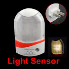 Light Control AC Powered LED Night Light Sensor Energy Saving Wall Mounted New