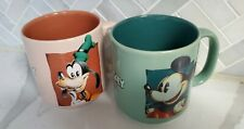 New ListingDisney Goofy and Mickey Mouse Coffee Mug Tan Brown, Green Tea from Disney Store