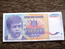 Yugoslavia rare 1 000 000 perunika boy 1993 dinara
