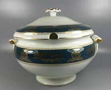 WEDGWOOD COLUMBIA BLUE AND GOLD R4509 SOUP TUREEN