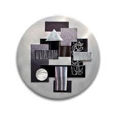 Black/Silver Abstract 3D Round Metal Wall Art Modern Sculpture by Jon Allen