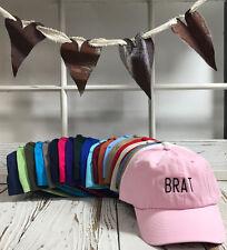 BRAT Black Thread Embroidered Dad Hat Baseball Cap - Many Styles
