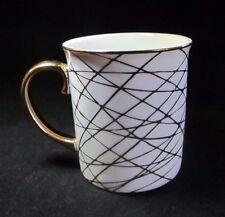 White Gold Ceramic Mug Christmas Holiday Xmas Winter Arlington Designs 14 oz