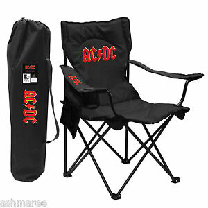 AC/DC ACDC Logo Folding Outdoor BBQ Camp Chair