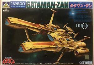 Aoshima Ideon runaway model kit 1/2600 Buff Clan Space battleship Gataman-Zan