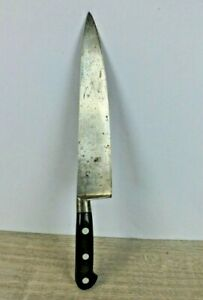 "Vintage Sabatier Chief Knife 4 Star Elephant w 9"" Carbon Steel Blade"