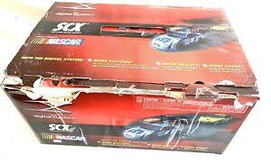 SCX The Digital System Tri-Oval Super Speedway 1/32 Slot Cars NASCAR Used works