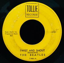 "THE BEATLES-Twist And Shout+There's A Place-Rare ""Thin Box"" 45-TOLLIE #T-9001"