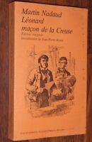 Martin Nadaud LEONARD MACON DE LA CREUSE édition intégrale François Maspero 1977
