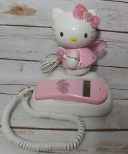 Hello Kitty Angel Vintage Telephone Phone Tested & Works Lights Up Caller ID