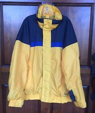 Columbia Bugaboo Style Jacket Interchange System Yellow Blue Blk Men's Lg Tall