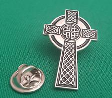 Celtic Cross Enamel & Metal Lapel Pin Badge - 30mm Gift Idea