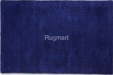 ROYAL ROY04 Plain Blue Plantation Chinese Aubusson Design Wool Rugs S - L Sizes