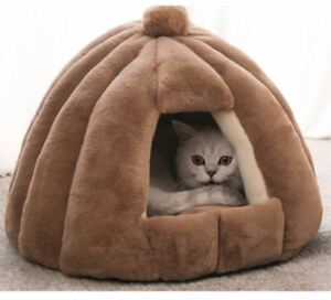 New Pet Dog Cat House Bed Tent Kennel Cushion Mat Removable Indoor Size S