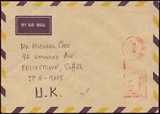 Burma 1997 Rangoon Machine Cancel Cover To UK #C30304
