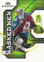 2001-02 Upper Deck MVP Masked Men Hockey Cards Pick From List