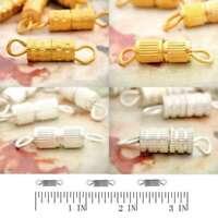 Screw in Clasp Swivel Connectors Buckle DIY Jewelry Findings 14.5x3.5x3.5mm