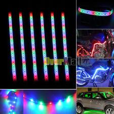 "6Pcs RGB 32LED/12"" Flexible Light Strip for Car Boat Truck DRL Waterproof DC12V"