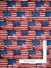 New listing Patriotic American Flag Rustic Cotton Fabric Timeless Treasures C8360 By Yard