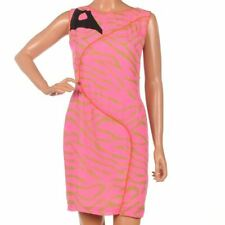 OLIVIA RUBIN Dress Hot Pink Zebra Print Silk Sleeveless Shift Size UK 8 SW 211