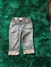 NWT Old Navy (Gap) Maternity Low Rise Denim Cropped Jeans Small (10/12)